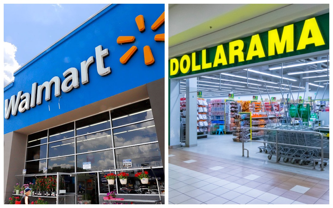 fachada walmart y dollarama