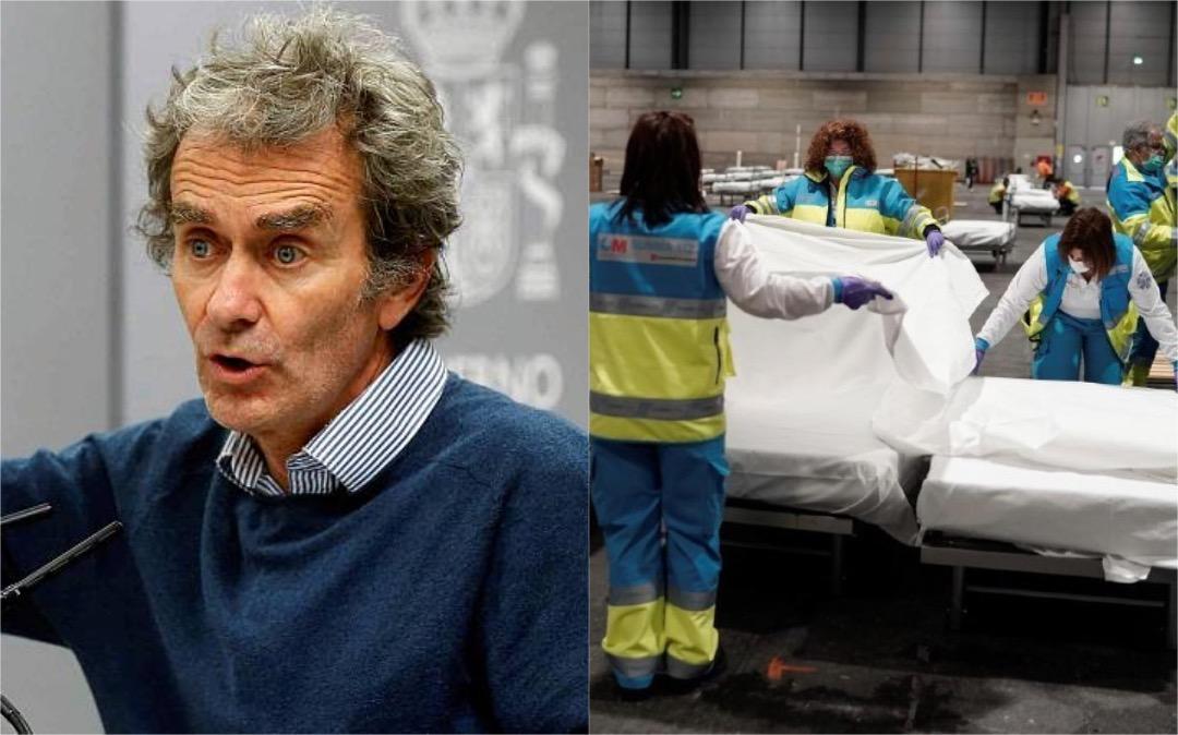 ministro de salud de España y hospital temporal