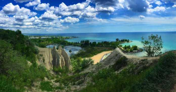 Beautiful views in Scarborough Bluffs, ON, CA